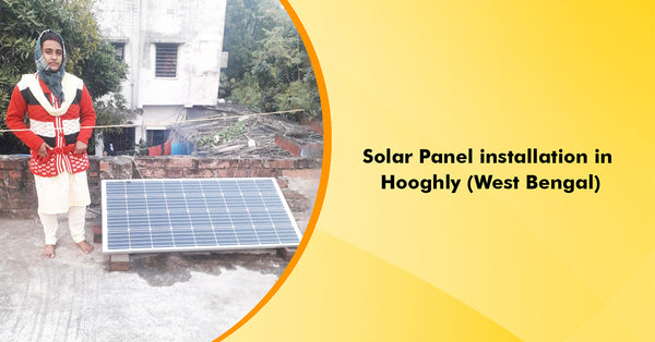 350Watt Mono Crystalline Solar Panel Installation in Hooghly, West Bengal