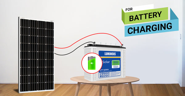 solar panels for battery charging