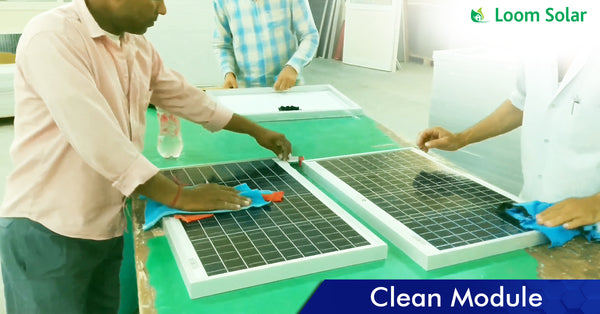 Solar Clean Module process in manufacturing plant