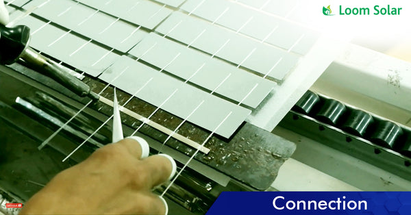 Solar Connection process in manufacturing plant