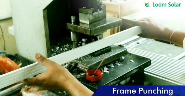 Solar Frame Punching process in manufacturing plant