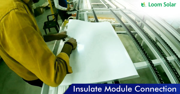 Solar Insulate Model Connection in manufacturing plant
