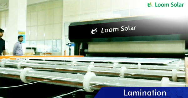 Solar Lamination process in manufacturing plant