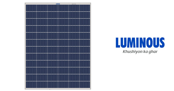 3kw luminous solar panel price in india
