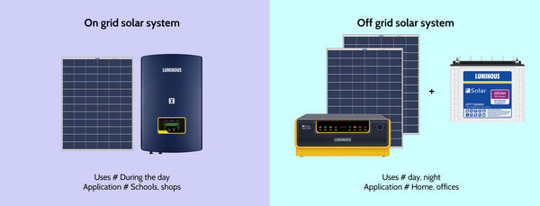 On Grid Solar System for AC & Off Grid Solar Solar System for Home