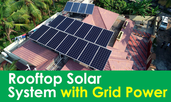 solar system with grid power