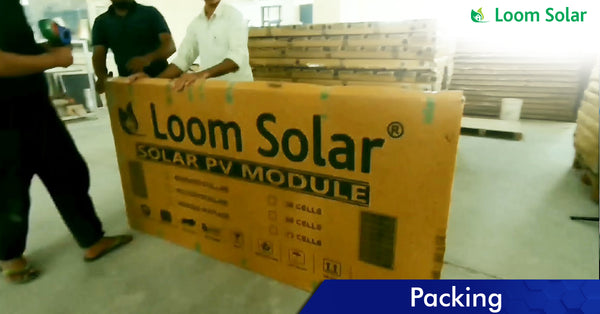Solar Packing process in manufacturing plant