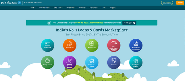India's No. 1 Loans & Cards Marketplace