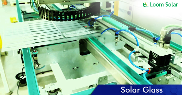 Solar Glass process in manufacturing plant
