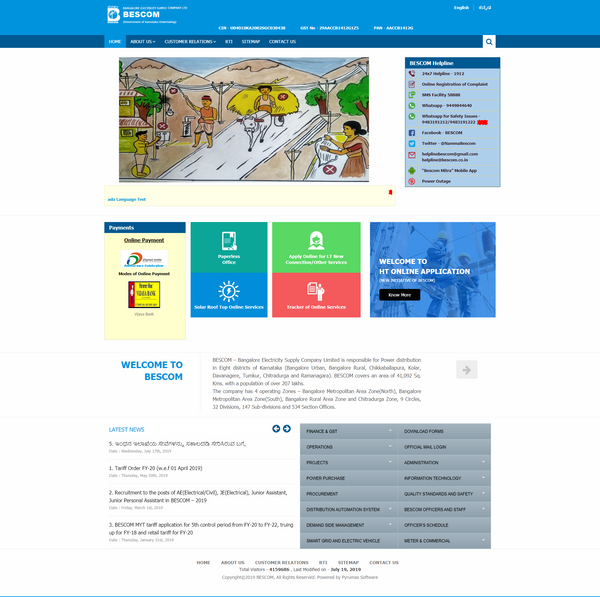 bescom website
