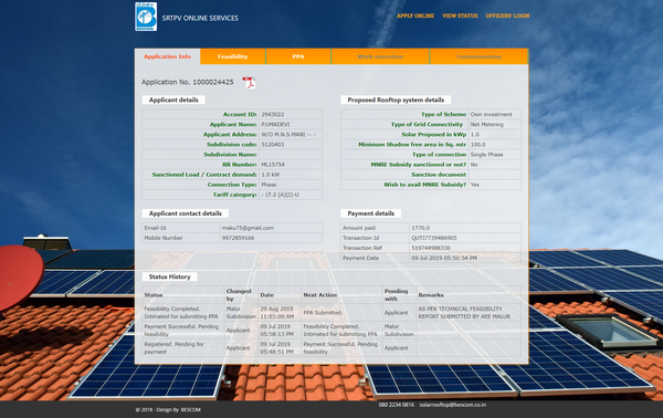 solar panel application