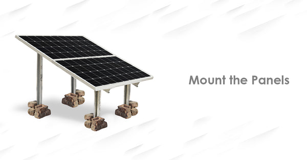 mounting solar panel on solar stands