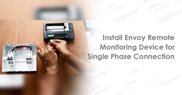envoy remote monitoring device for single phase