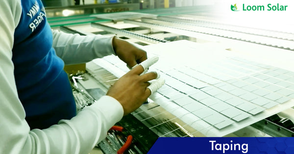 Solar Taping process in manufacturing plant