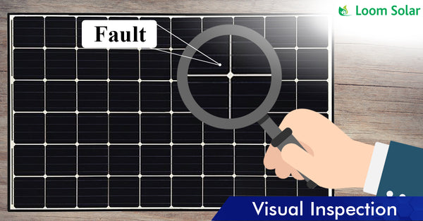 Solar Visual Inspection process in manufacturing plant