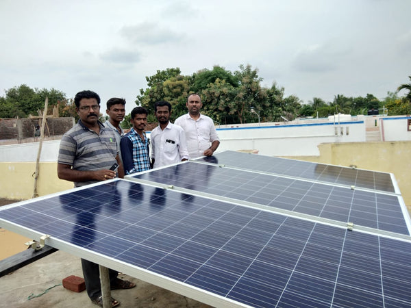 1kw solar installation from loom solar