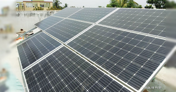 3 Kw Ac Module Grid Connected Installation In Burdwan West Bengal