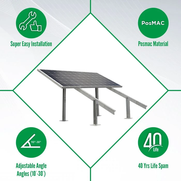 solar panel stand features