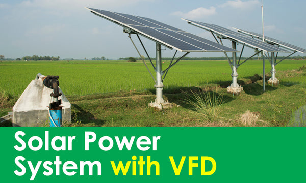 solar system with vfd
