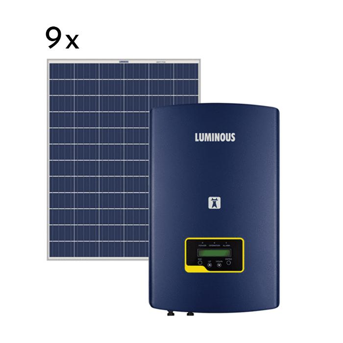 Luminous 3 kw on grid solar system