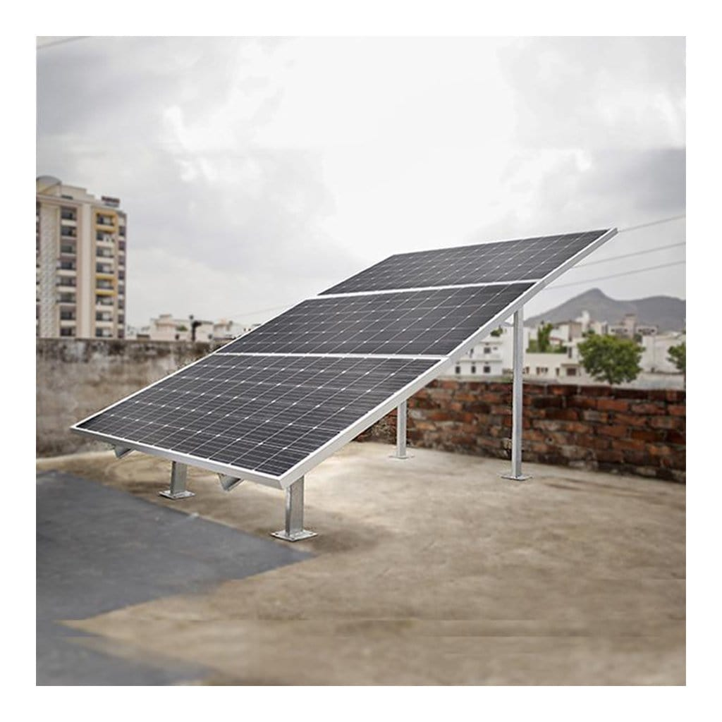 Loom solar 3 panel stand (375 watts) - Horizontal / Stairs design