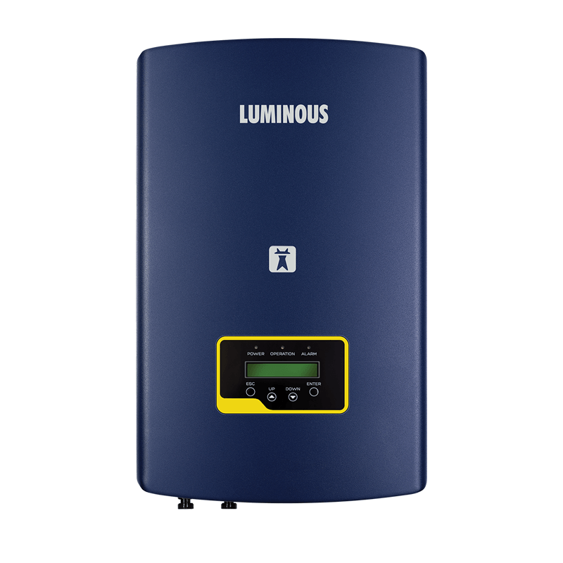 Luminous solar nxi 5 kw on grid solar inverter - Loom Solar