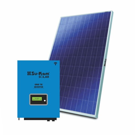 Sukam 10 kw on grid solar system for residence & shops - Loom Solar
