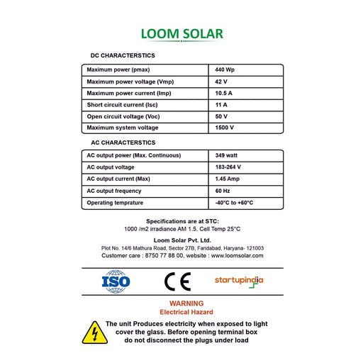 Luminous 850 va off grid solar system with 320 watts panel for small shops, home - Loom Solar
