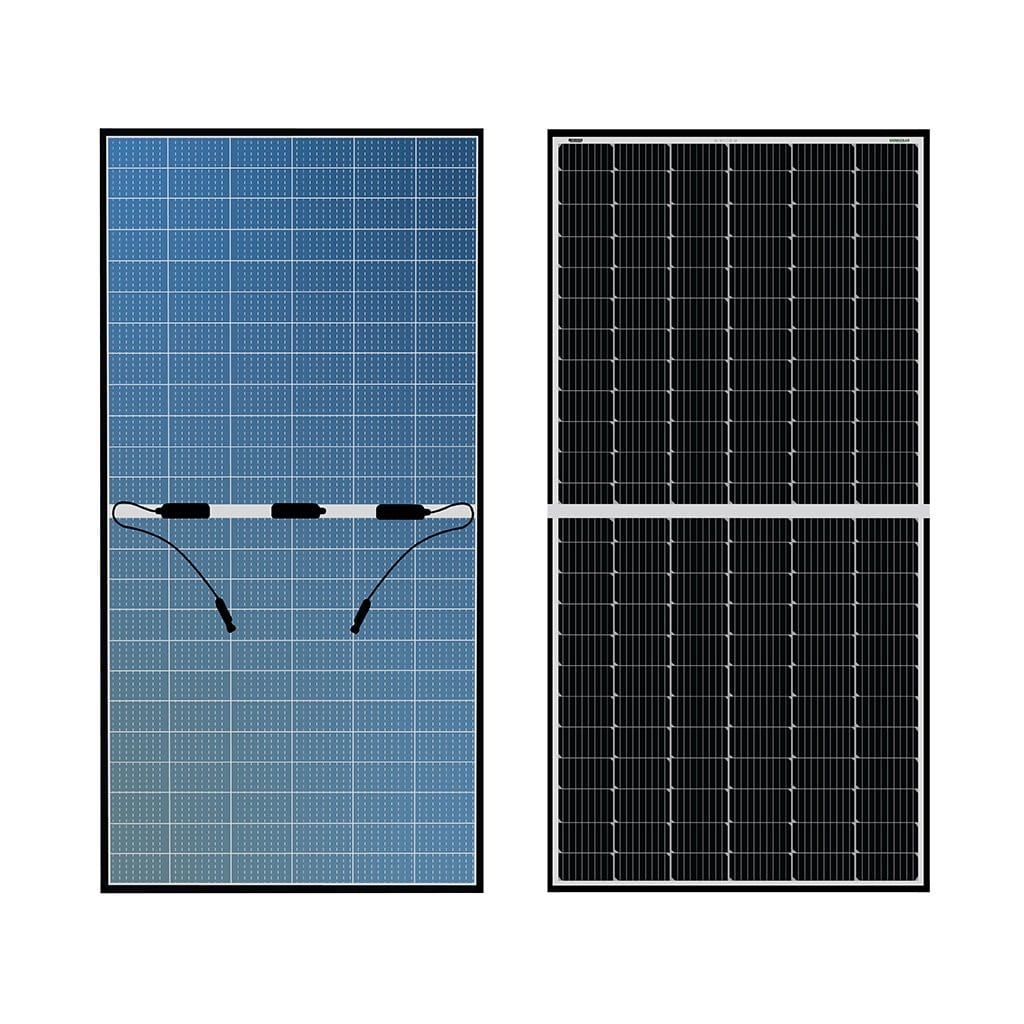 Loom Solar Panel SHARK Bi-facial Panel, 440 - 575 Watt, Mono Perc, 144 Cells, 9 Bus Bar (pack of 2)