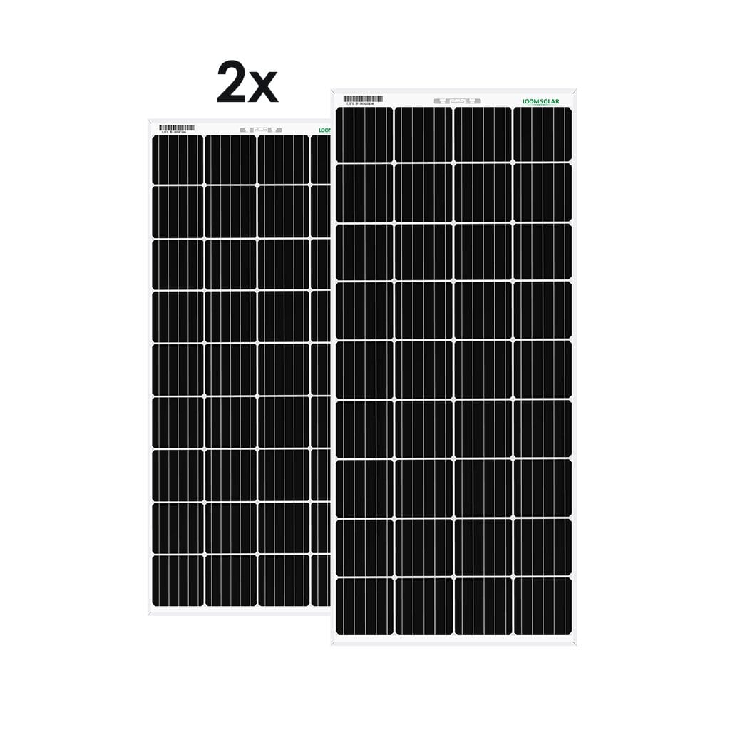 Loom Solar Panel 180 watt / 12 volt  Mono Perc (Pack of 2)