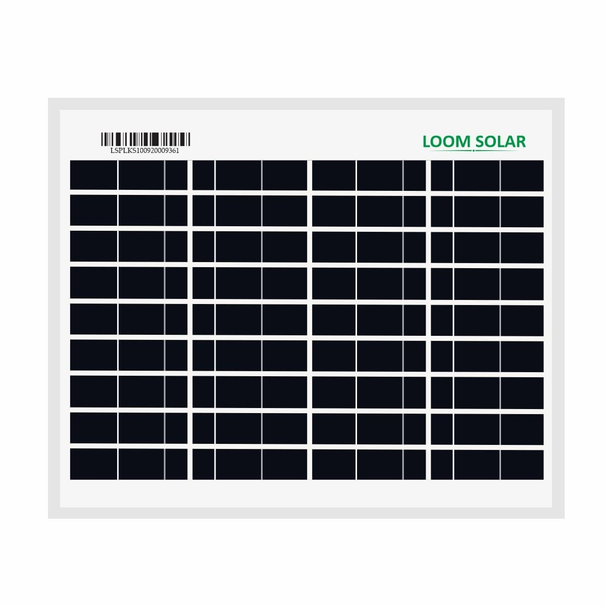 Loom Solar Panel 10 watt - 12 volt for Mobile Charging