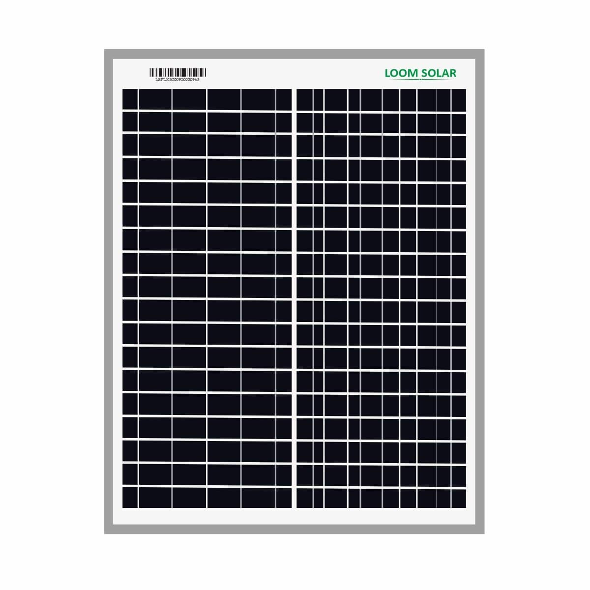 Loom Solar Panel 20 watt - 12 volt for Small Battery Charging