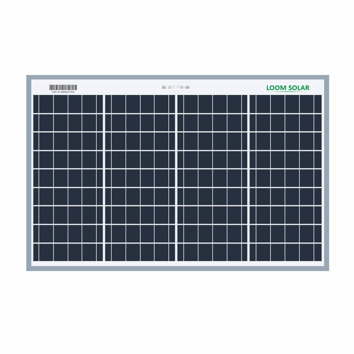 Loom solar panel 40 watt 12 volt poly crystalline