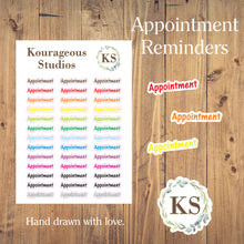 Appointment Stickers