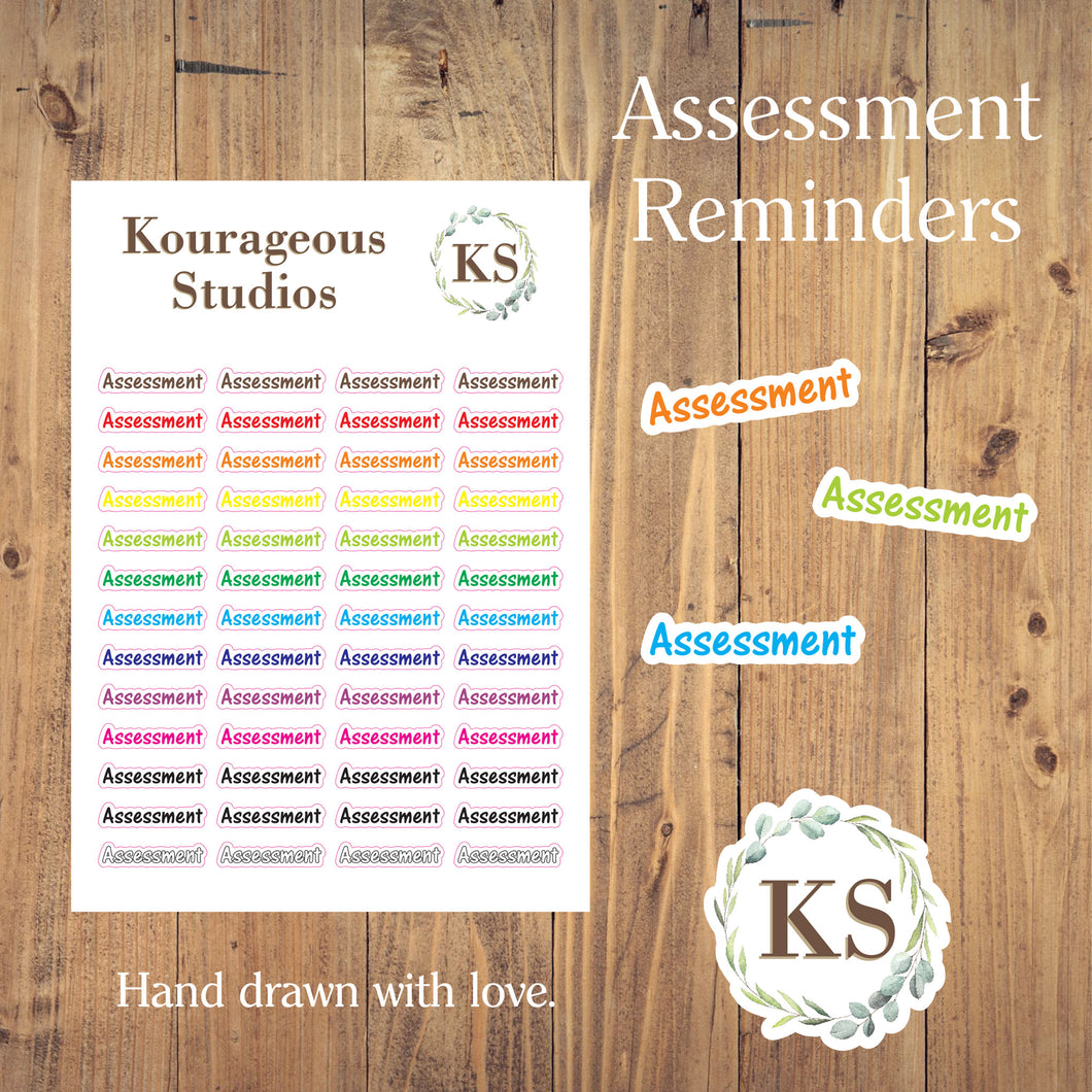 Assessment Stickers