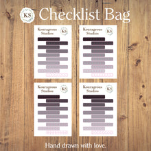 Checklist Stickers Bag