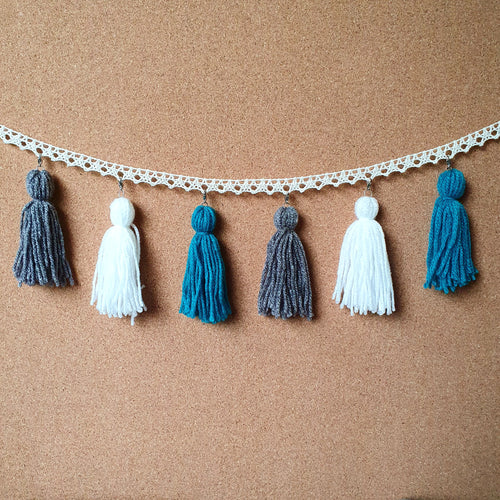 Dark Beach Tassel Garland