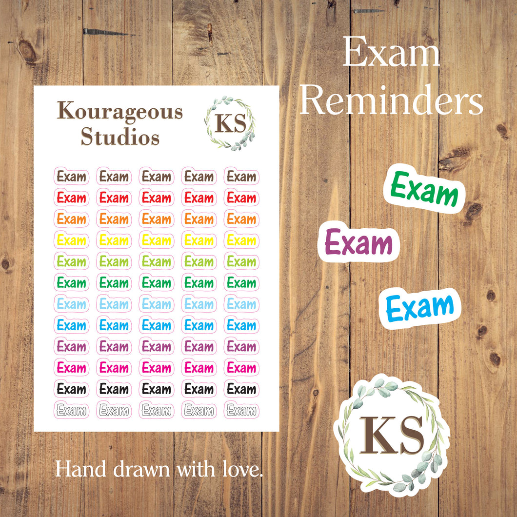 Exam Stickers