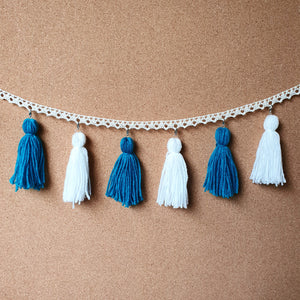 Foamy Seas Tassel Garland