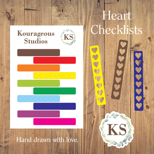Heart Checklist Stickers