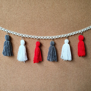 Red Waratah Tassel Garland
