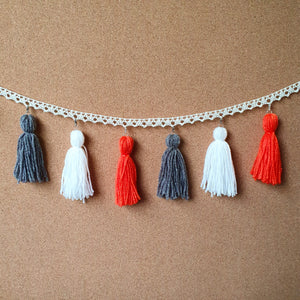 Monarch Butterfly Tassel Garland