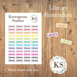 Library Reminder Stickers