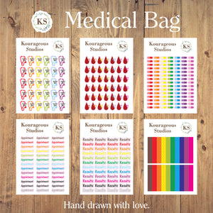 Medical Stickers Bag