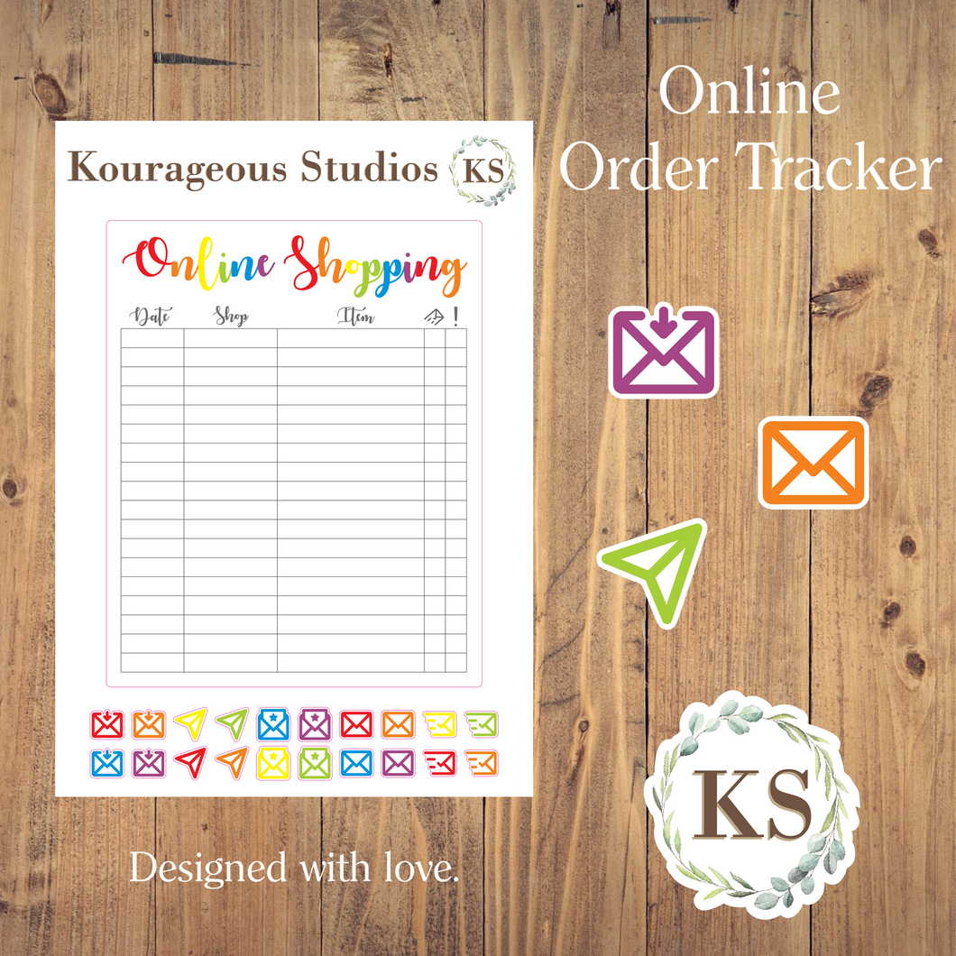 Online Shopping Tracker Sticker