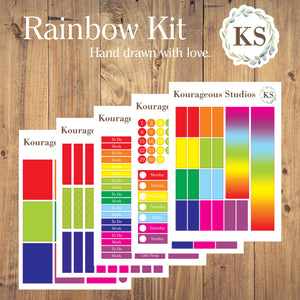 Rainbow Weekly Sticker Kit