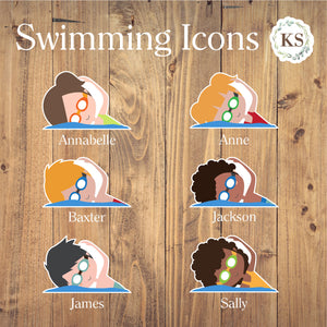 Swimming Stickers