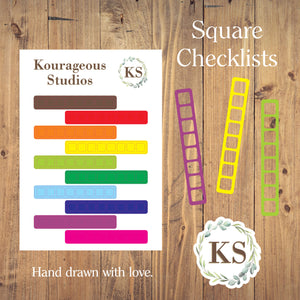 Square Checklist Stickers