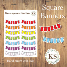 Square Banner Stickers