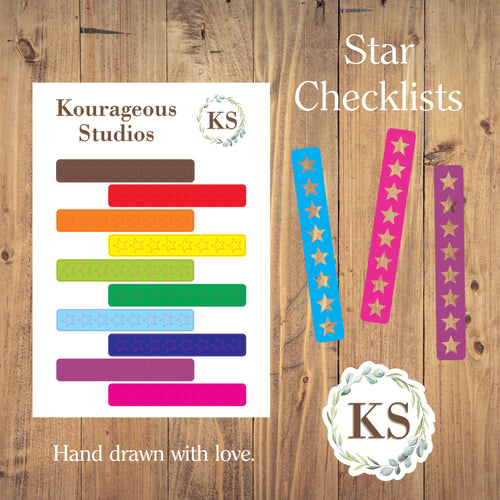 Star Checklist Stickers